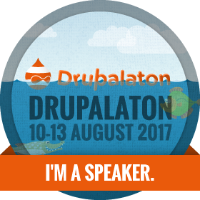 Drupalaton 2017 - I am a speaker
